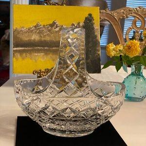 Vintage Cut Crystal Basket